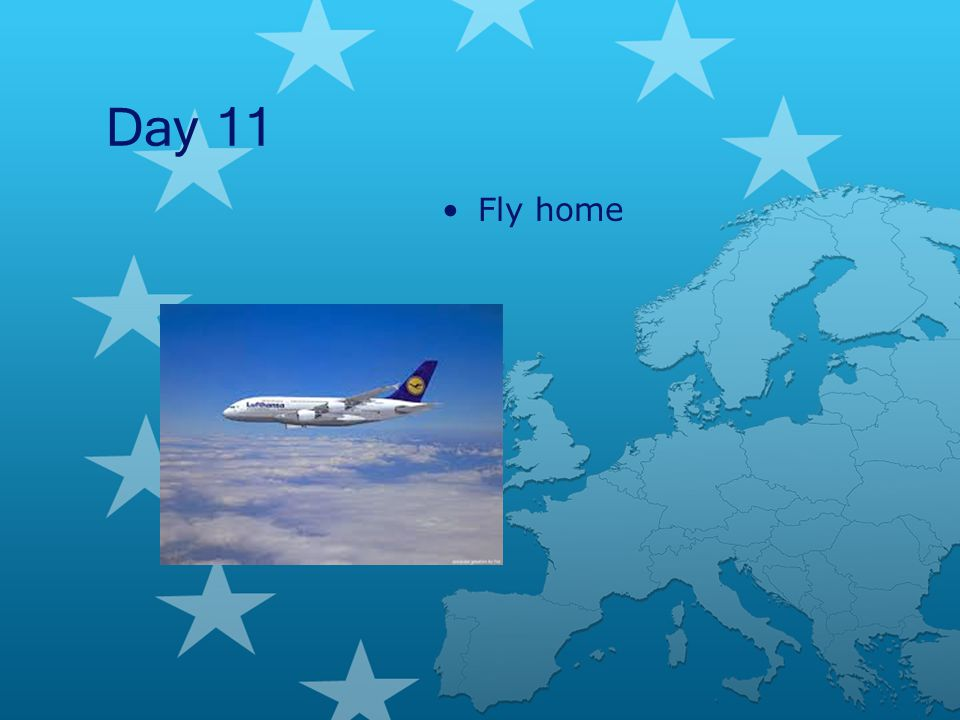 Day 11 Fly home