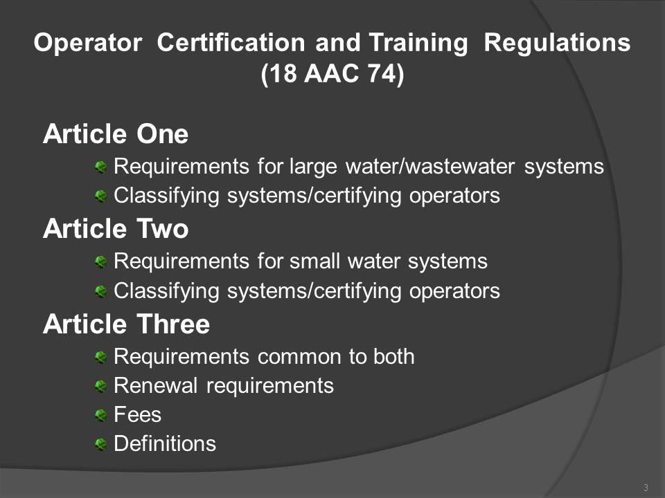 Finding an Operator dec.alaska.gov/water/opcert/index.htm 34