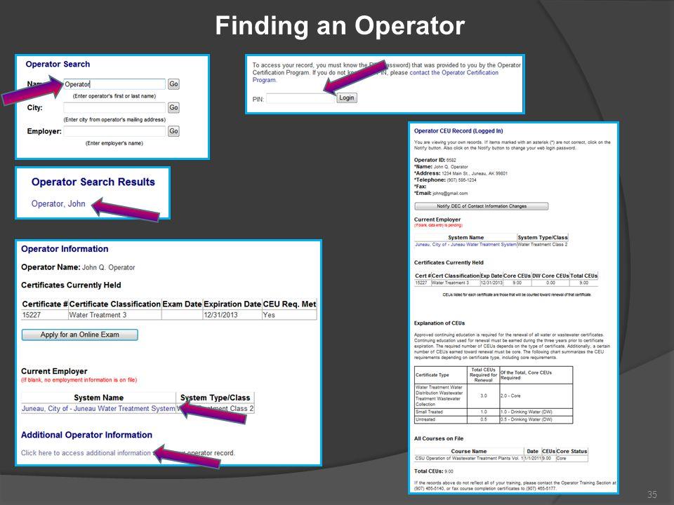 Finding an Operator 35