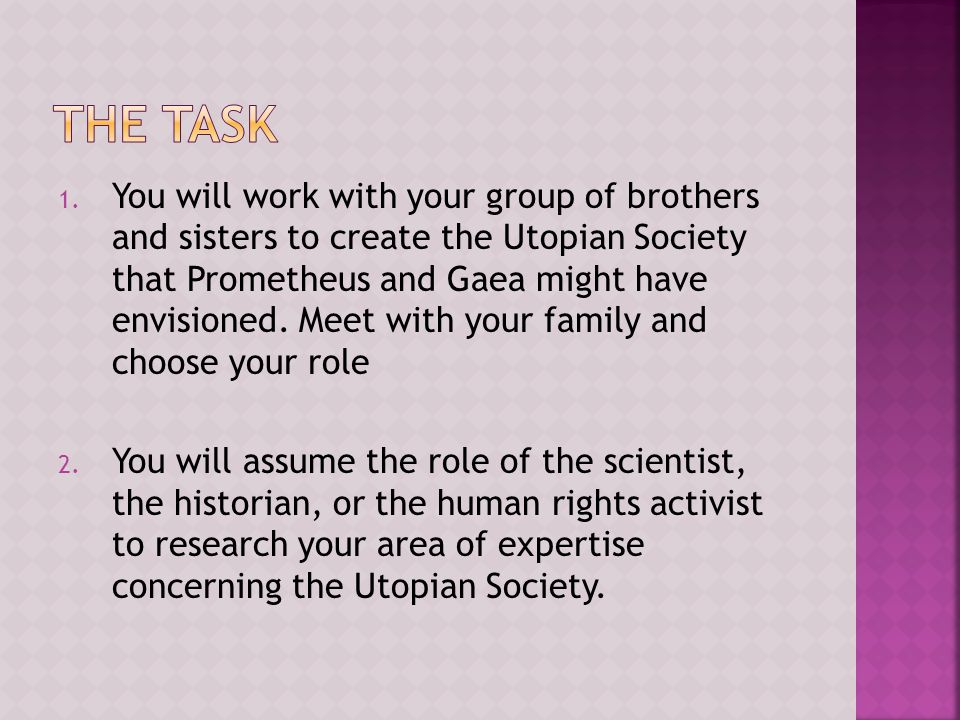  Meet with the others of your same role to do research.