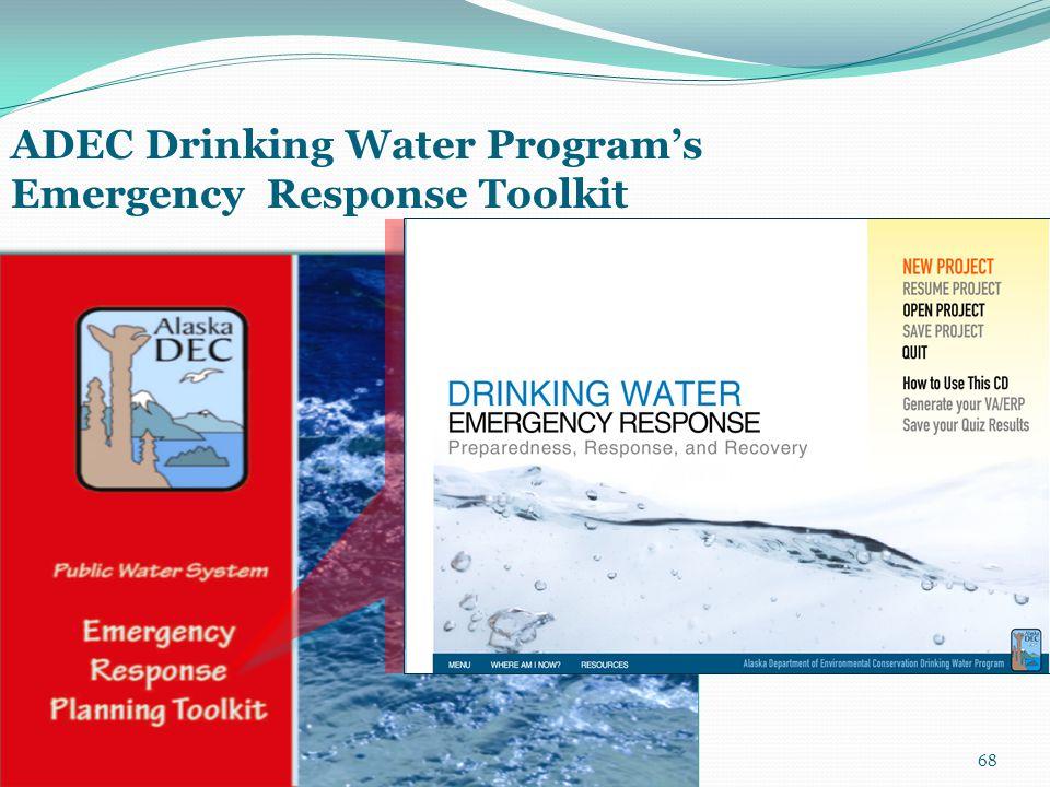 68 ADEC Drinking Water Program's Emergency Response Toolkit