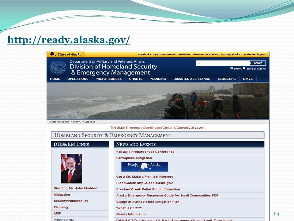 http://ready.alaska.gov/ 69
