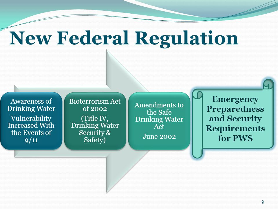 All new public water systems beginning operation after effective date must have an ERP/PMP in place.