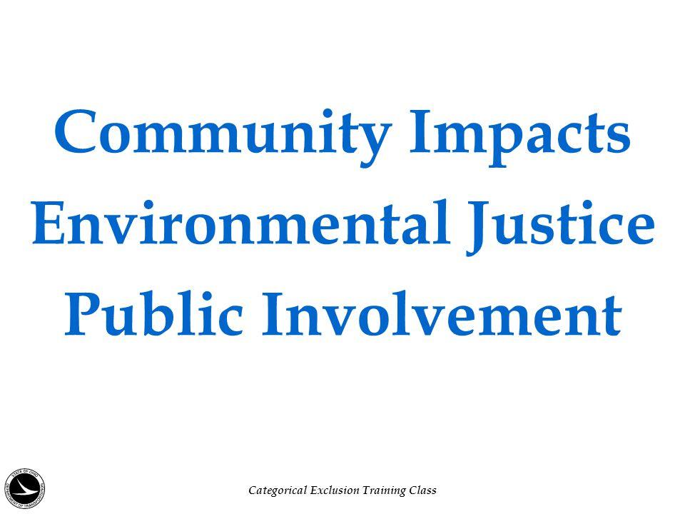Why Public Involvement.