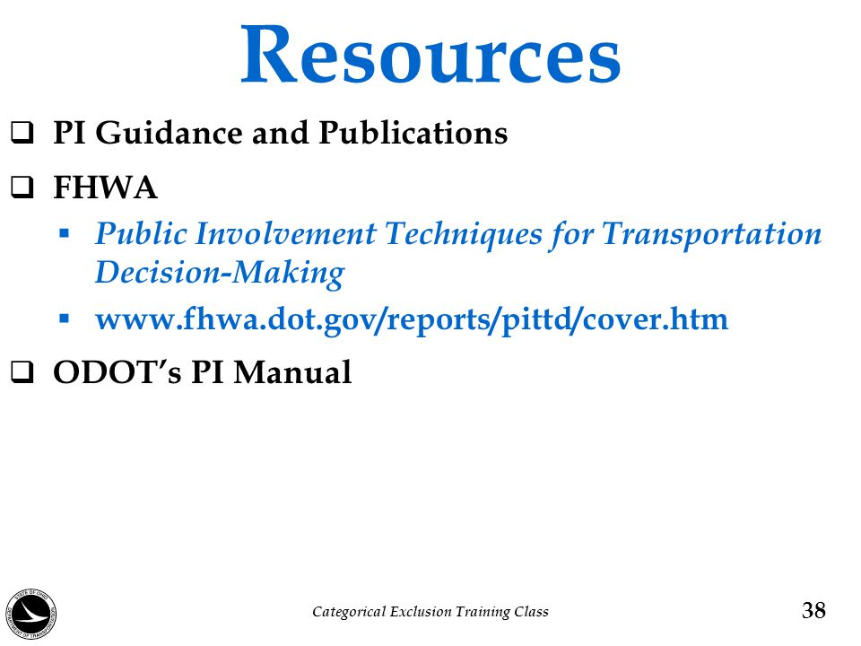 Resources  PI Guidance and Publications  FHWA  Public Involvement Techniques for Transportation Decision-Making  www.fhwa.dot.gov/reports/pittd/co