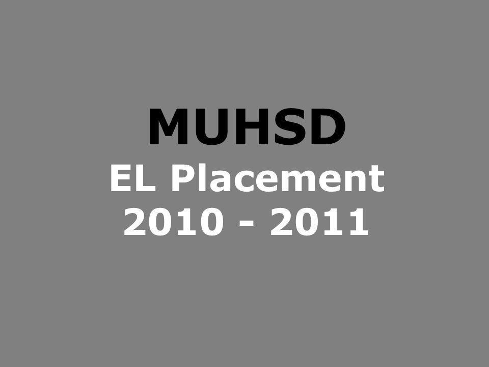 MUHSD EL Placement 2010 - 2011