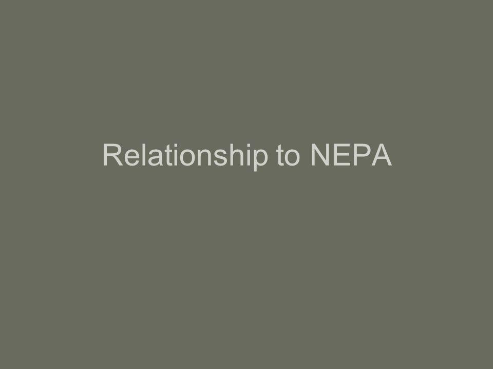 Relationship to NEPA