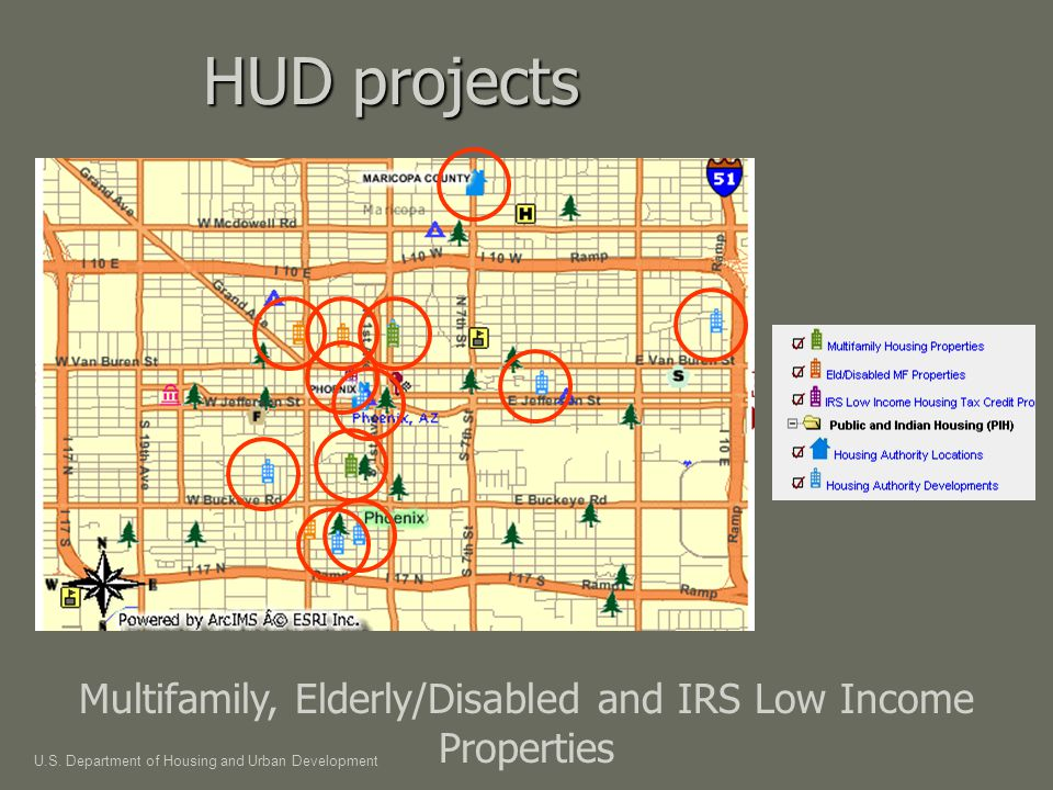 HUD projects Multifamily, Elderly/Disabled and IRS Low Income Properties U.S.