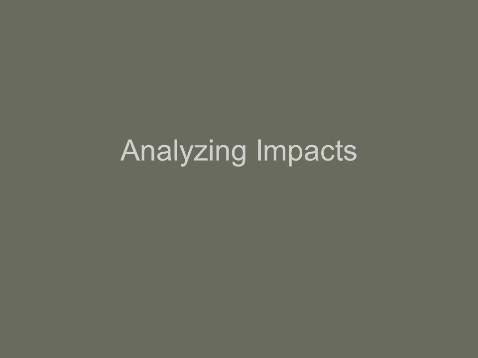Analyzing Impacts