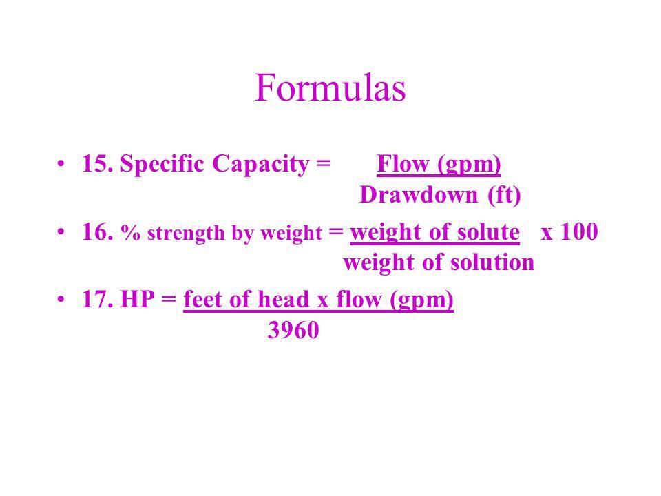 Volume of a Cone Formula: 0.785 x D 2 x H = Volume 3