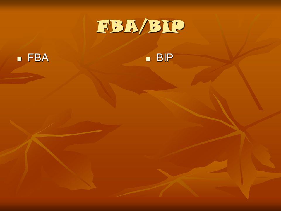 FBA/BIP FBA FBA BIP BIP