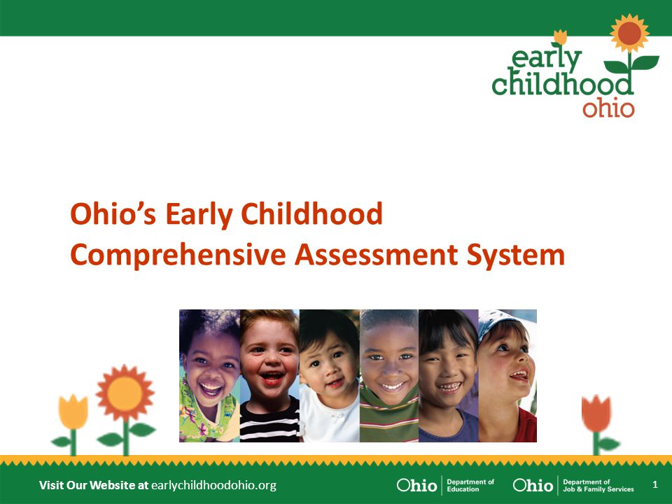 Visit Our Website at earlychildhoodohio.org Overview Assessment System Purpose Assessment Components Early Learning Assessment Kindergarten Readiness Assessment Timelines and Next Steps 2