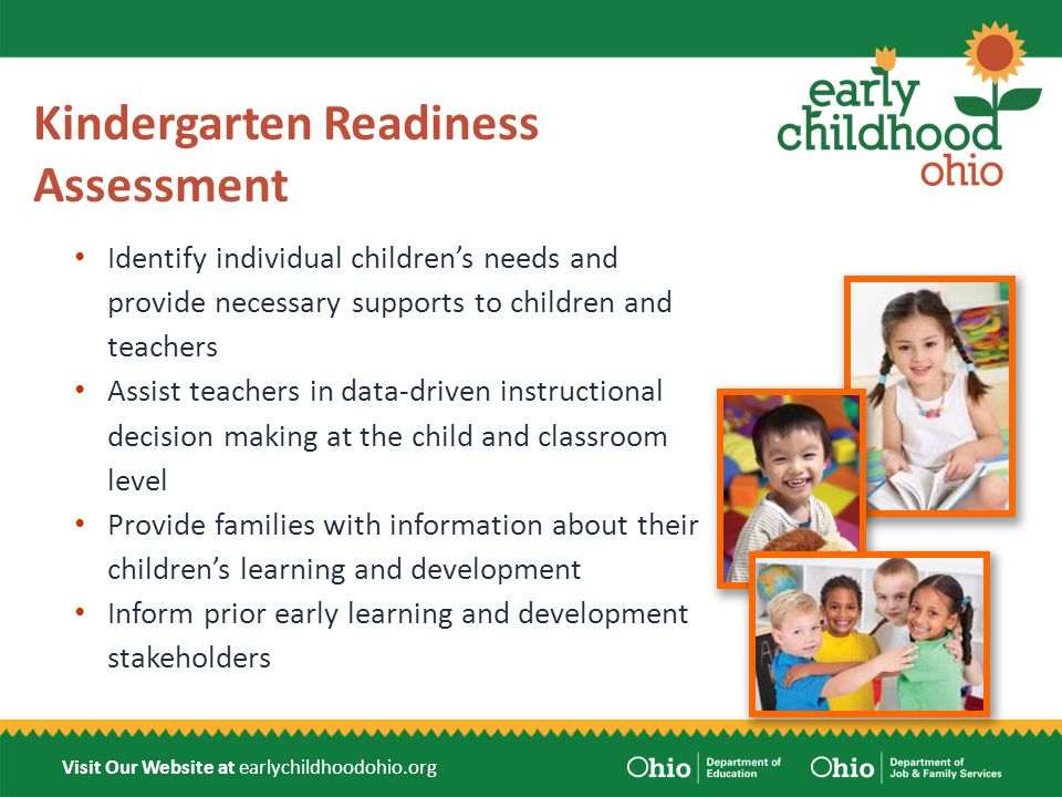 Visit Our Website at earlychildhoodohio.org Item Types Selected response items Performance tasks Observation rubrics