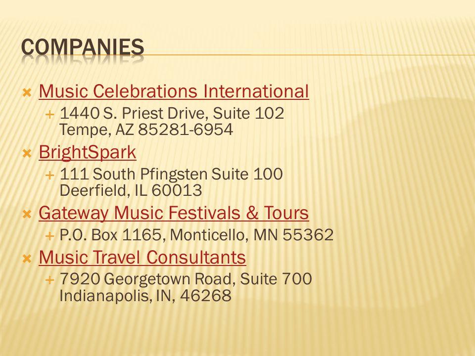  Music Celebrations International Music Celebrations International  1440 S.