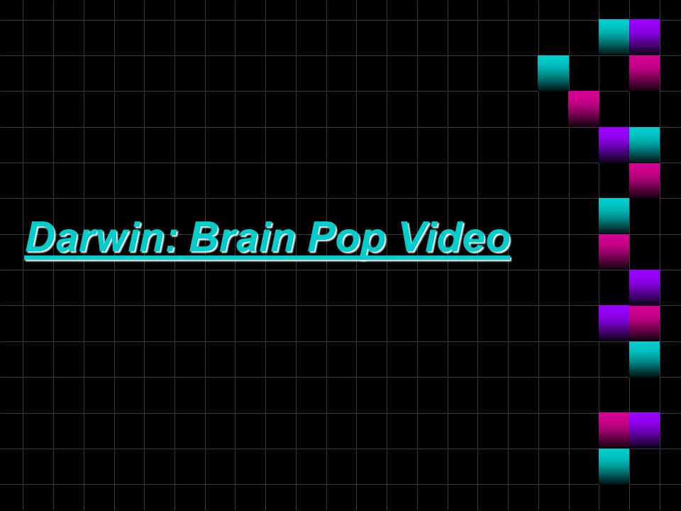 Darwin: Brain Pop Video Darwin: Brain Pop Video