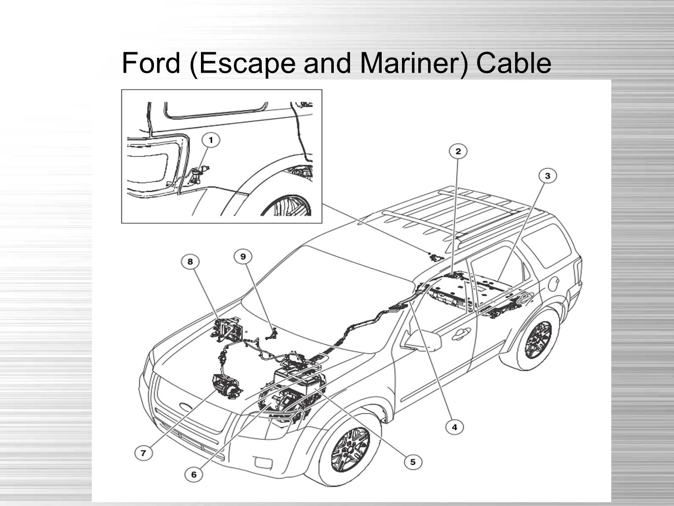 Ford (Escape and Mariner) Cable