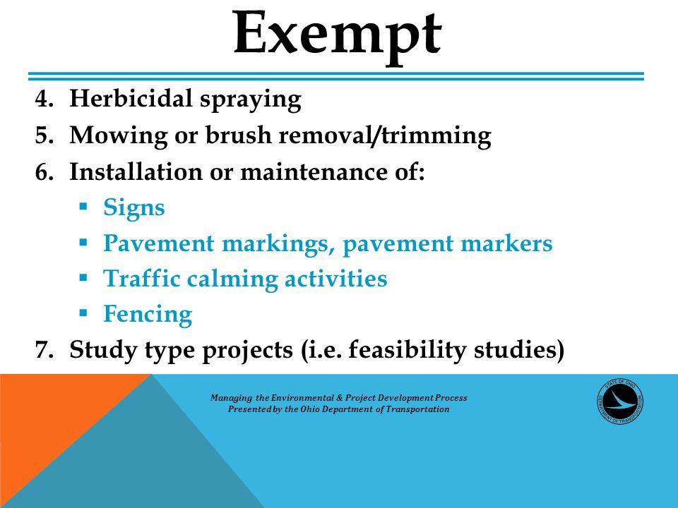 4.Herbicidal spraying 5.
