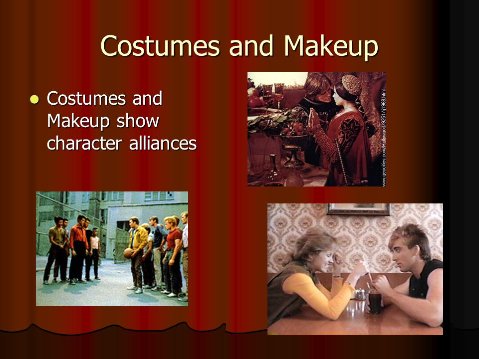 Costumes and Makeup Costumes and Makeup show character alliances Costumes and Makeup show character alliances