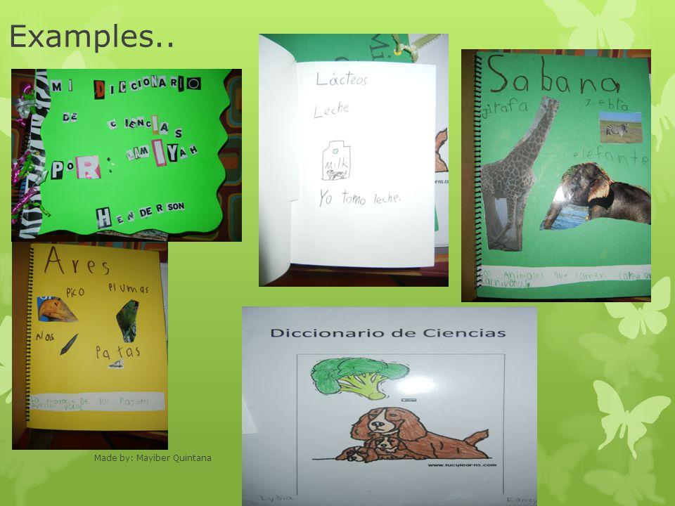 Examples.. Made by: Mayiber Quintana