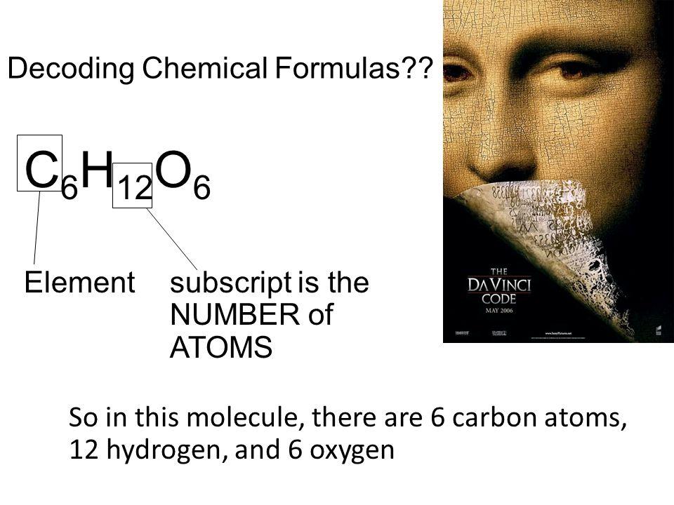 Decoding Chemical Formulas?.