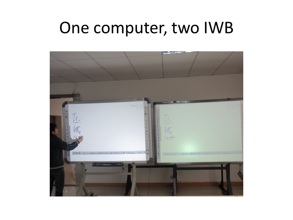One computer, two IWB