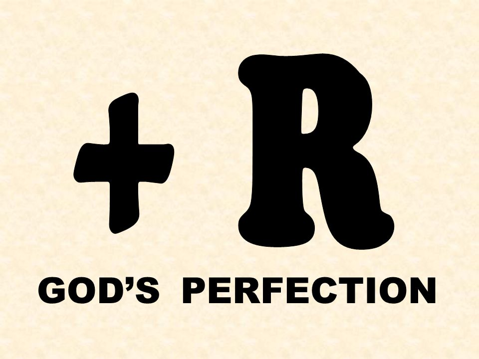 GOD'S PERFECTION