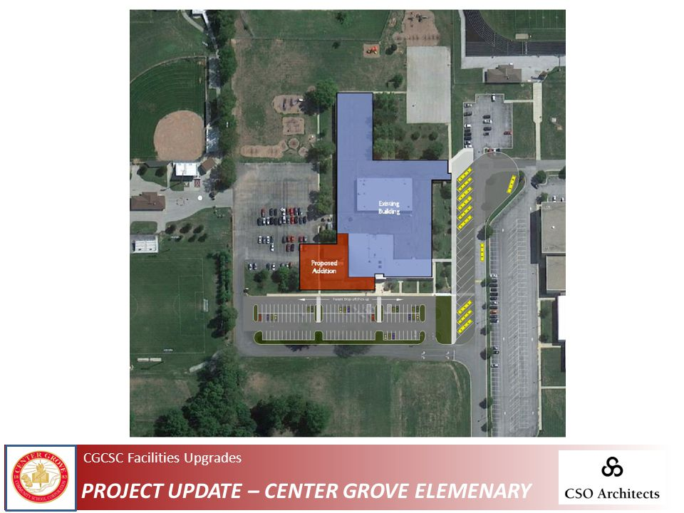 CGCSC Facilities Upgrades PROJECT UPDATE – CENTER GROVE ELEMENARY