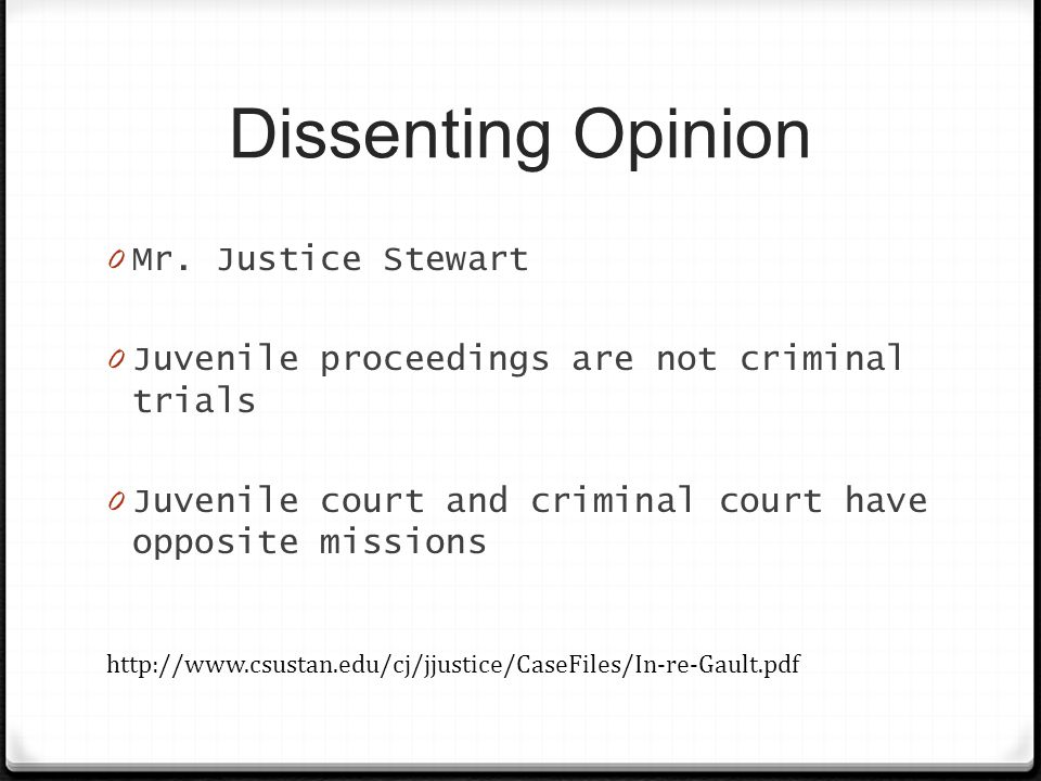 Dissenting Opinion 0 Mr.