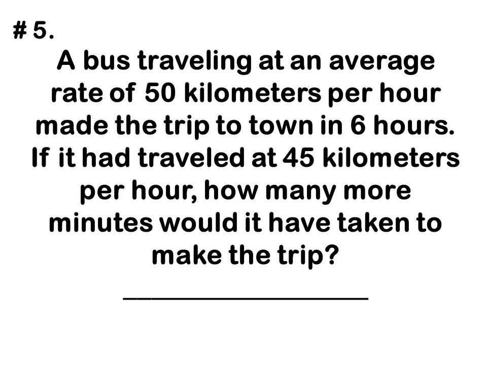 An executive drove from home at an average speed of 30 mph to an airport where a helicopter was waiting.