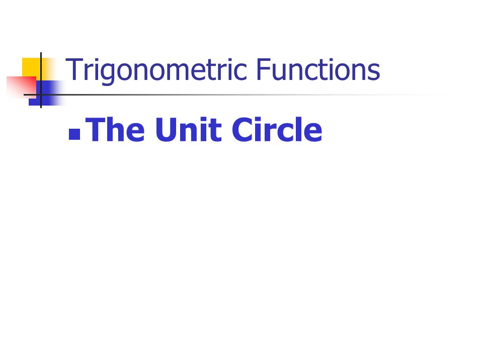 Definition: A circle whose center is the origin and whose radius has a length of one.