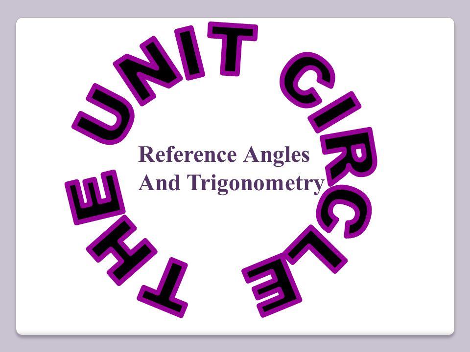 Reference Angles And Trigonometry