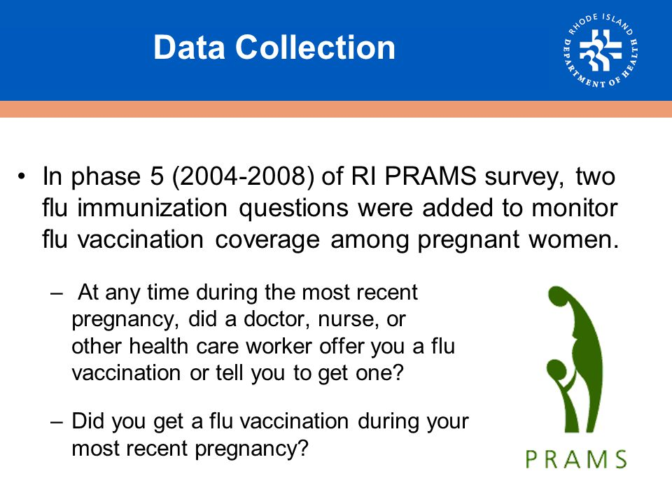 % of Women Who Had a Flu Shot during Pregnancy by Education Rhode Island, 2005-2007 P < 0.001 Source: RI Pregnancy Risk Assessment Monitoring System, 2005-2007