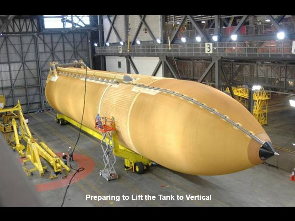 Preparing to Lift the Tank to Vertical