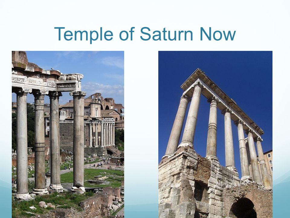Temple of Saturn Now