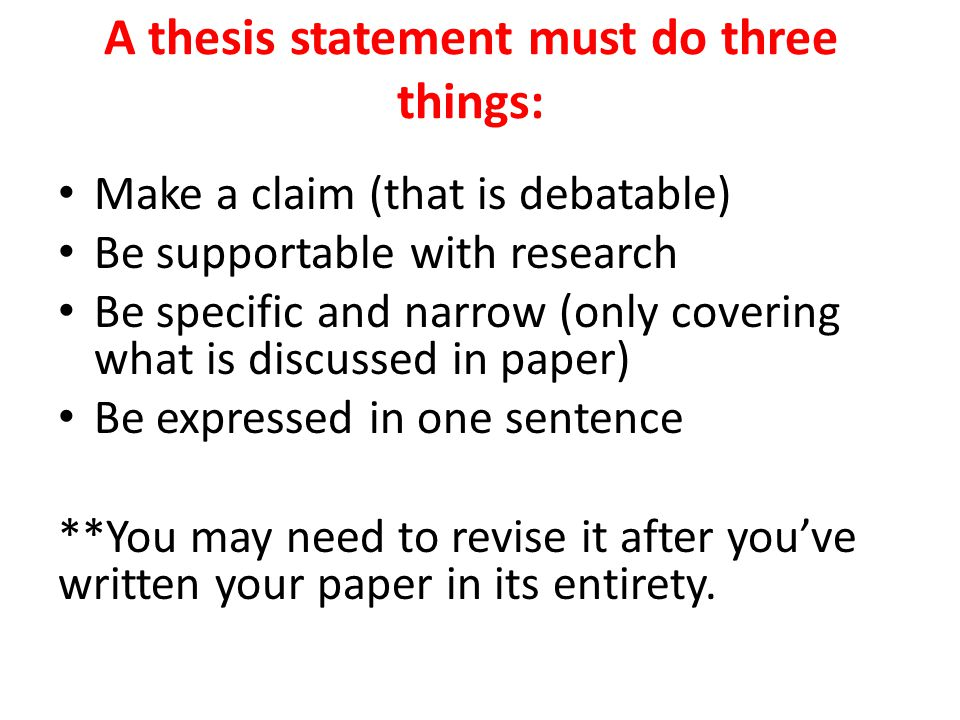 Can a quotation make up a thesis statement?