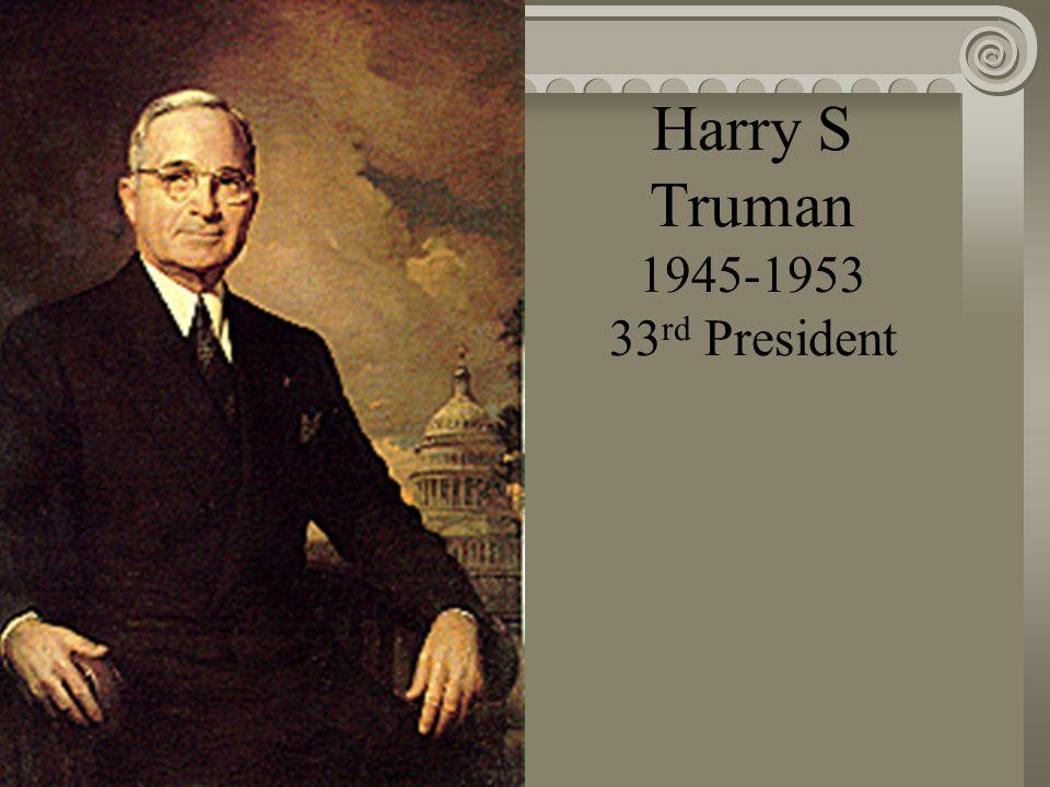 Franklin D. Roosevelt 1933-1945 32 nd President