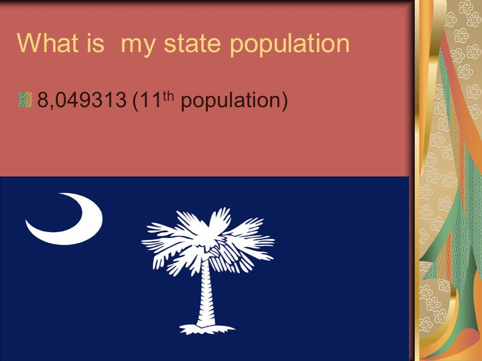 What is my state population 8,049313 (11 th population)
