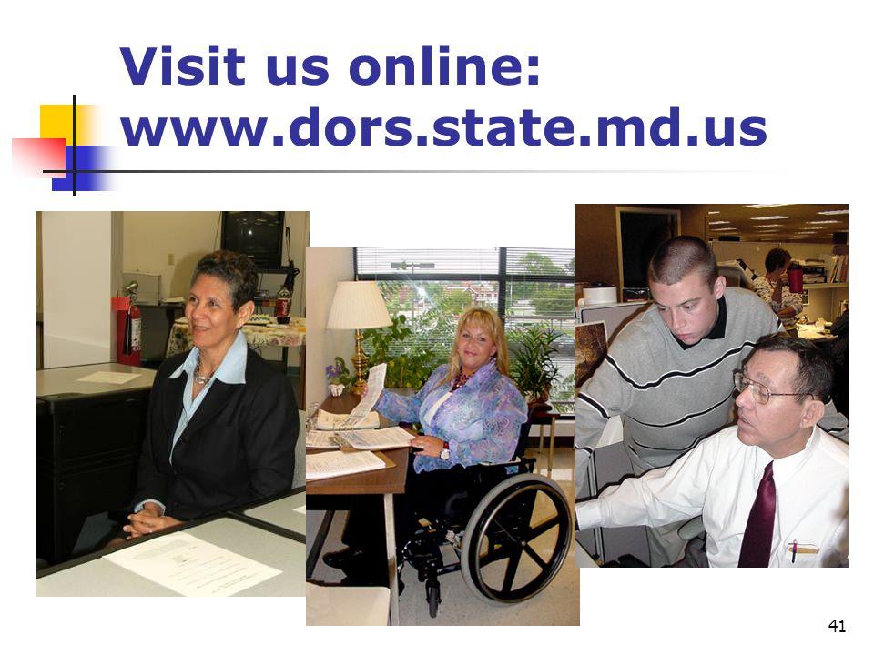 41 Visit us online: www.dors.state.md.us