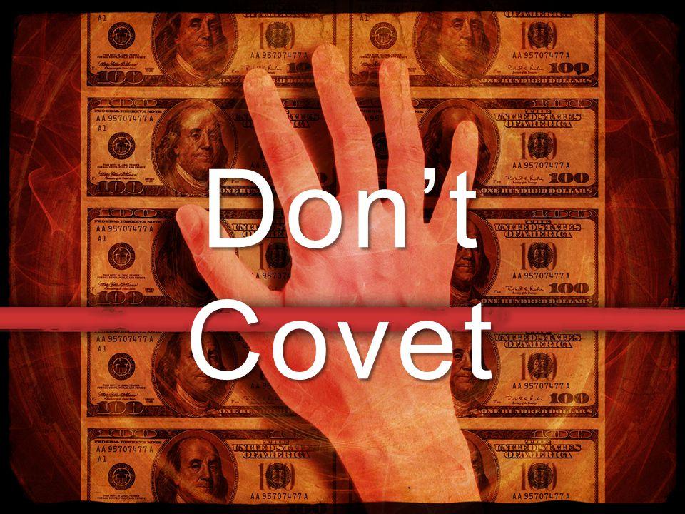 Don't Covet