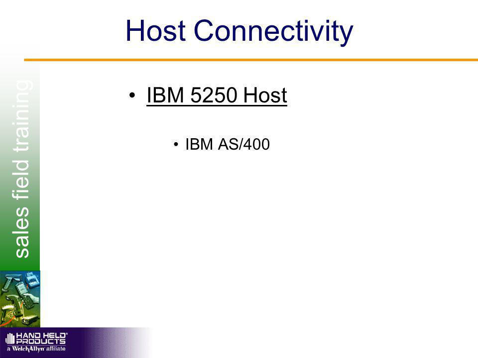 sales field training Host Connectivity IBM 5250 Host IBM AS/400