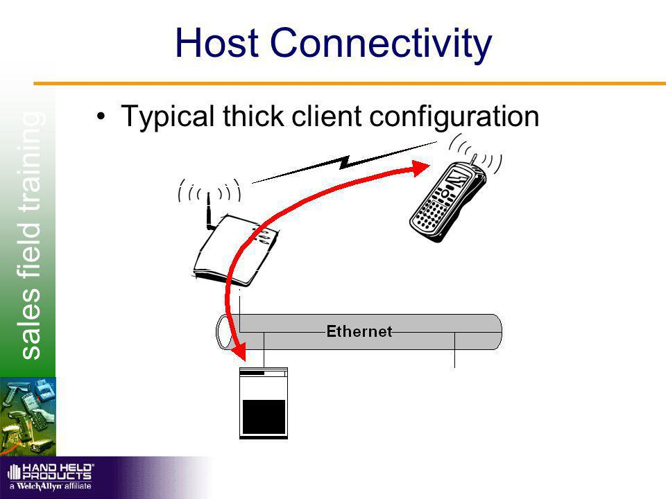 sales field training Host Connectivity Typical thick client configuration