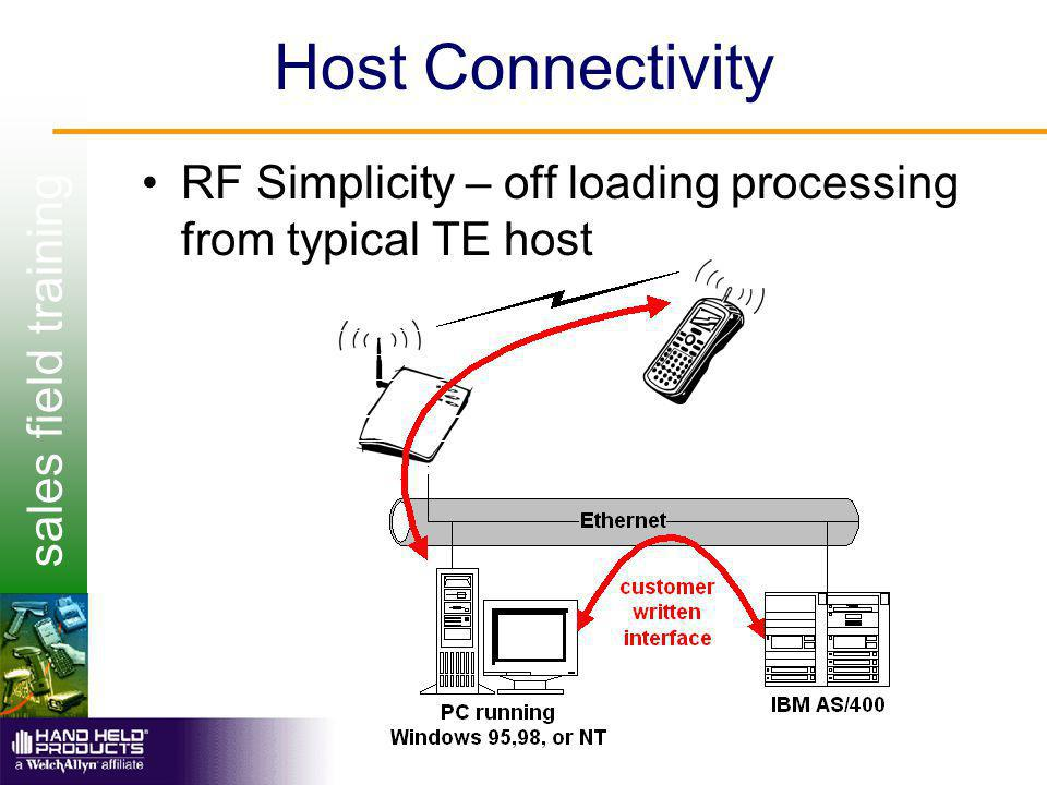 sales field training Host Connectivity RF Simplicity – off loading processing from typical TE host