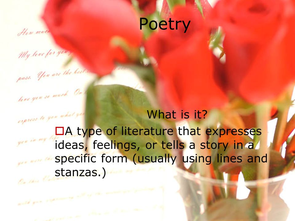 Poetry What is it.