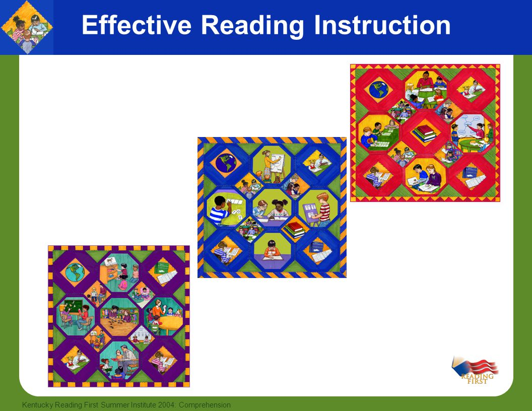 12 Kentucky Reading First Summer Institute 2004: Comprehension Effective Reading Instruction