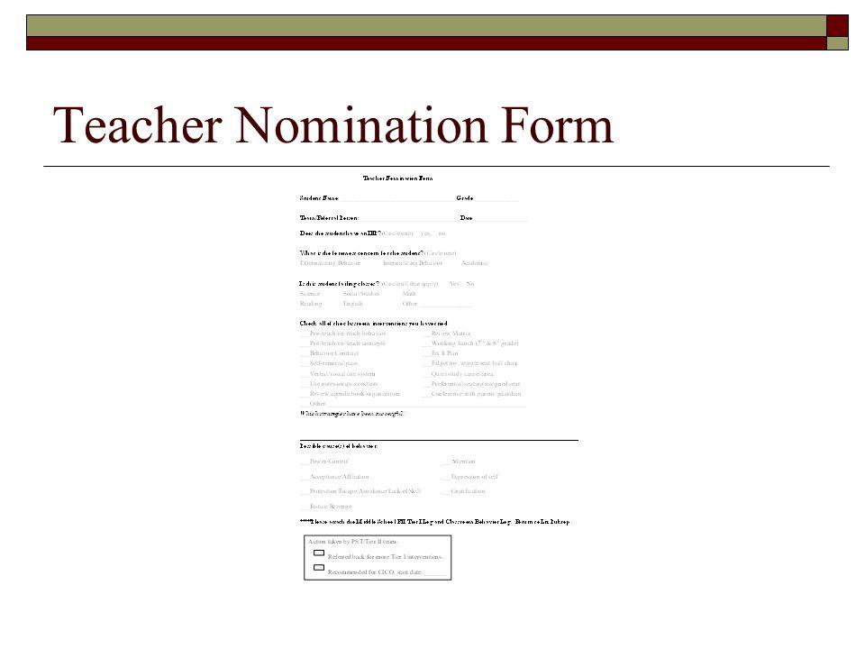 Teacher Nomination Form
