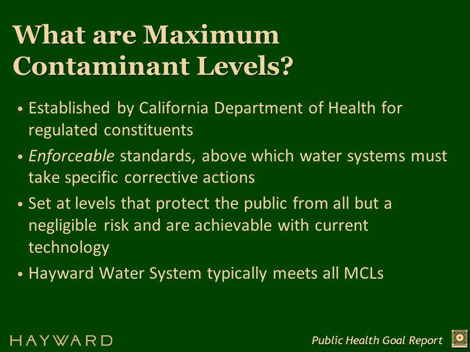What are Public Health Goals.