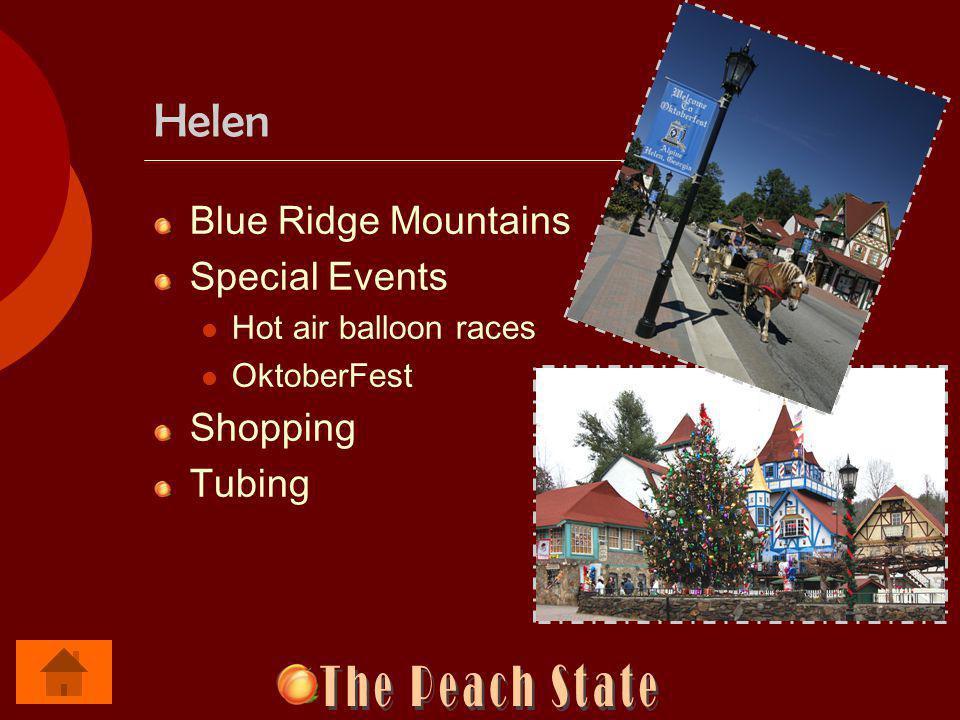 Helen Blue Ridge Mountains Special Events Hot air balloon races OktoberFest Shopping Tubing