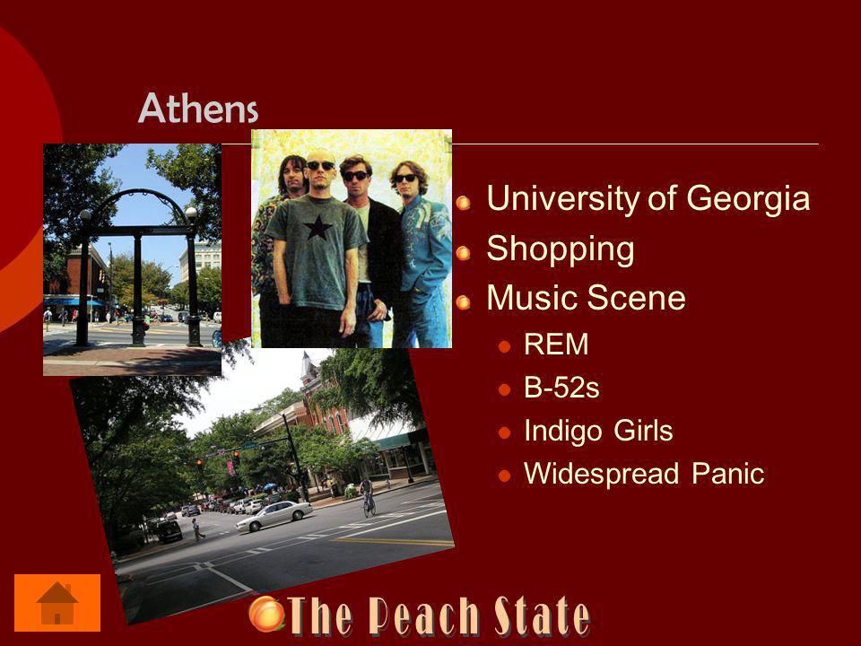 Athens University of Georgia Shopping Music Scene REM B-52s Indigo Girls Widespread Panic