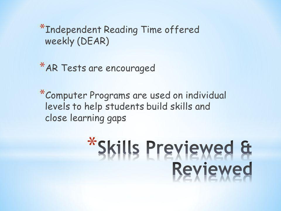 * Successmaker Math * Study Island * Classzone Activities * USA Test Prep * Destiny Book Catalog * Accelerated Reader
