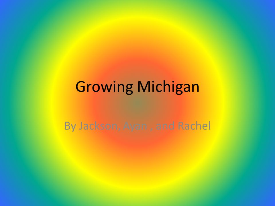 Growing Michigan By Jackson, Ayan, and Rachel